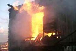 В Кирилловке сгорела постройка