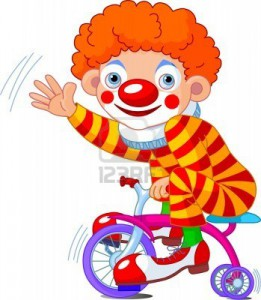 6658832-funny-clown-on-three-wheeled-bicycle