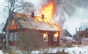 В Запорожье сгорел дом