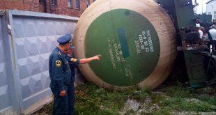 В Донецкой области опрокинулись три железнодорожные цистерны с дизтопливом