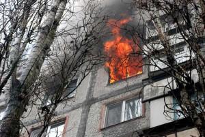 В Запорожье горела квартира многоэтажки