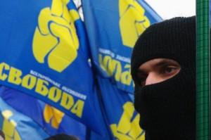 В Запорожье «Свобода» устроила драку с милицией и сорвала детский праздник