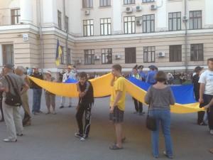 «Свобода» вывела на митинг в Запорожье детей (ФОТОФАКТ)