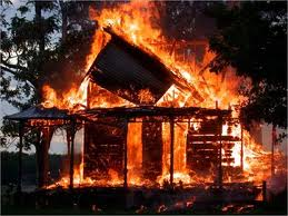 В Запорожской области неустановленная личность спалила неустановленное здание