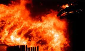 В Бердянске горело частное подворье