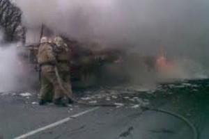 В Крыму на ходу горел пассажирский автобус