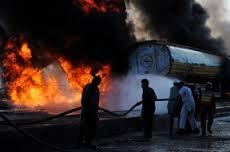 В Одесской области взорвался бензовоз. Пожар тушили пять часов