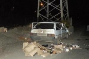 В Запорожской области столкновение со столбом закончилось смертью для водителя