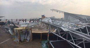 На фестивале Z-Games рухнула сцена, девушку унесло в море